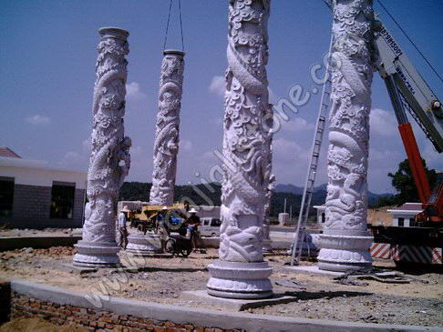 DECORATIVE COLUMNS|COLU055|Export columns , marble columns , stone pillars,  Roman column from Xiamen Wanjiali Stone in China with competitive price and  high ...